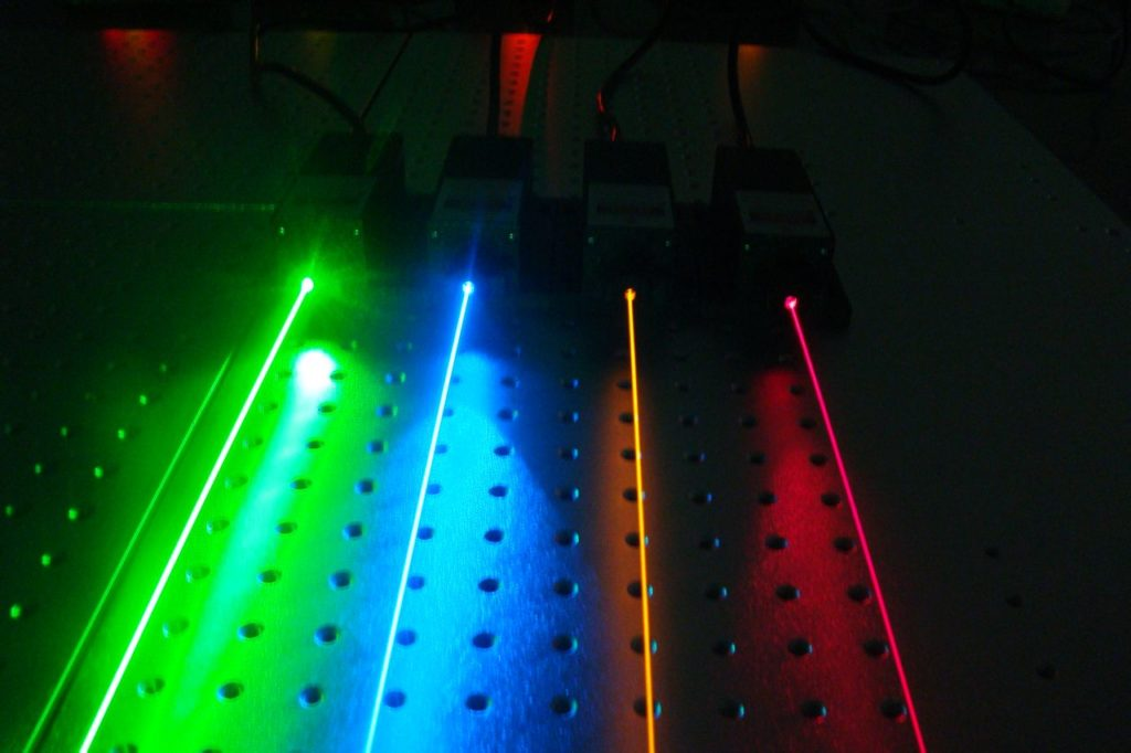 the color of laser