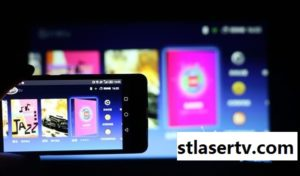 laser tv with mobile phone 1