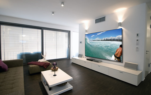 beautiful projection screen